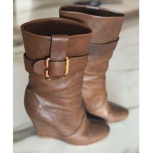 Chloe mid rise platform boots